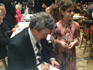 Maestro Bychkov with a young fan at the premiere