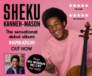 Sheku Kanneh-Mason becomes best-selling British debut of 2018