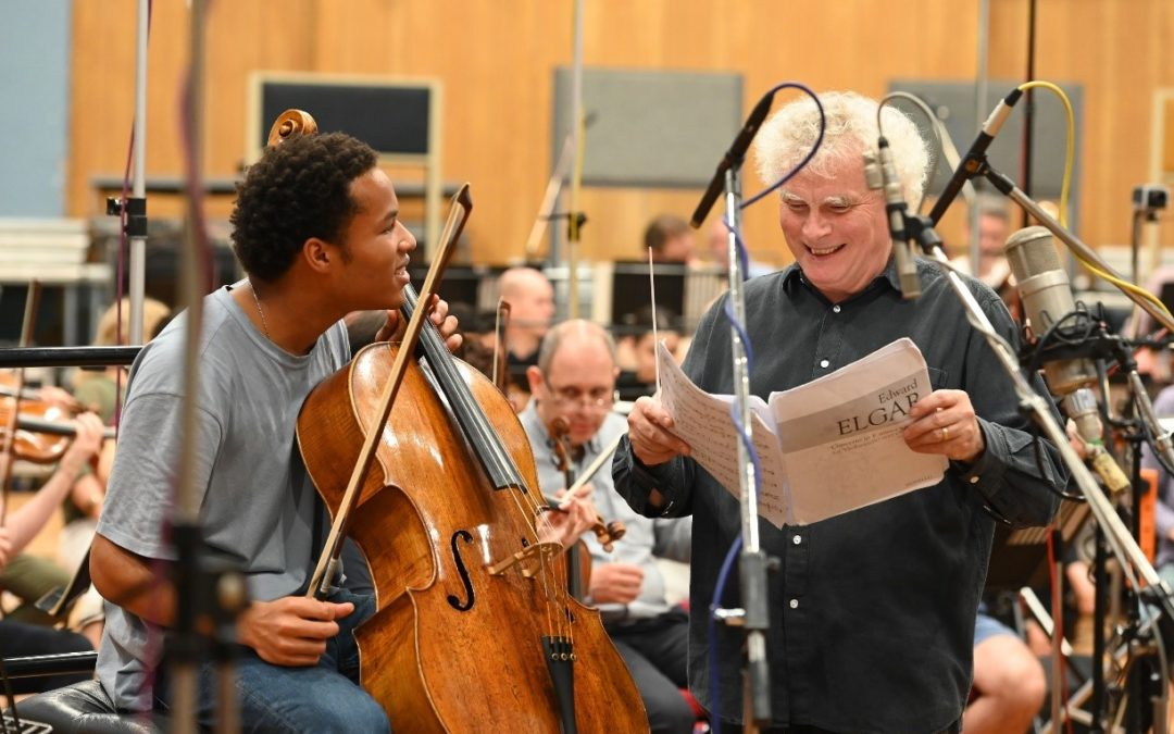 Sheku Kanneh-Mason and Sir Simon Rattle record at Abbery Road Studios