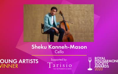 Sheku Kanneh-Mason Wins RPS Young Artists Award